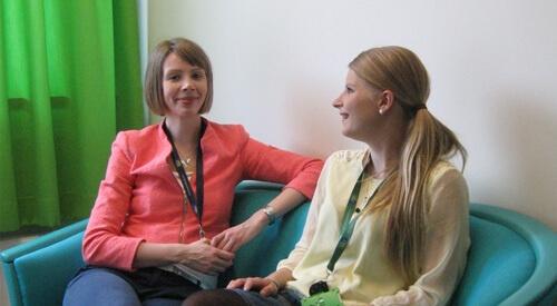 Laura Tarvainen and Katarina Cederlöf