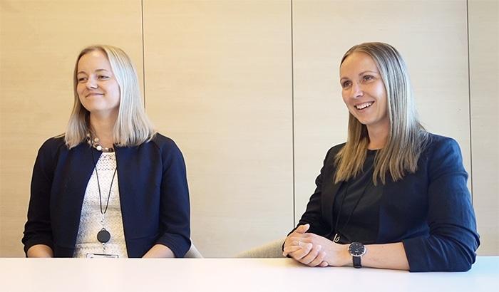 Sanna De Luca and Jaana Anttila from Finnair